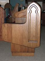 solid oak cantilevered pew end